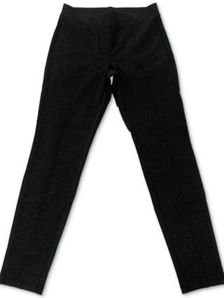 WOMEN Petite Heathered Seam-Front Pont -Knit Pants, Created for Macy's