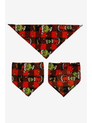 WOMEN Matching Pet Grinch Family Pajamas Fleece Bandanna