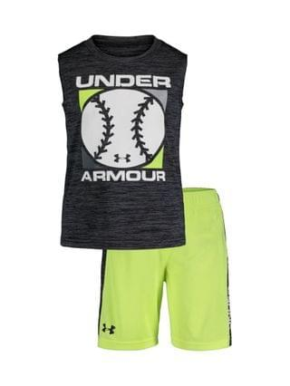 KIDS Little Boys Baseball Twist Tank Top and Shorts Set