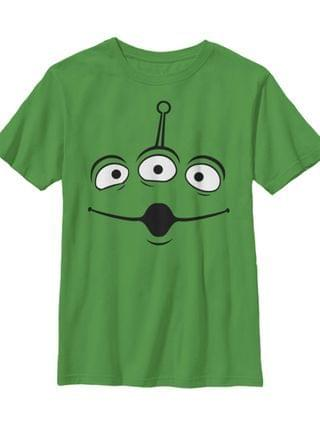 KIDS Disney Pixar Toy Story Big Boys Aliens Face Short Sleeve T-Shirt