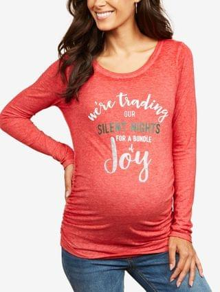WOMEN We're Trading Our Silent Nights For A Bundle Of Joy Graphic Tee