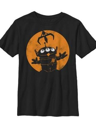 KIDS Disney Pixar Toy Story Big Boys Spooky Halloween Alien Claw Moon Short Sleeve T-Shirt