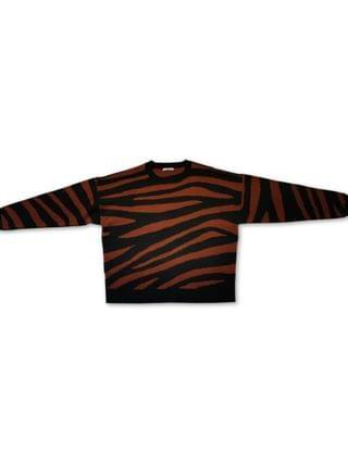 WOMEN Tiger Striped Sweater, Created for Macy's