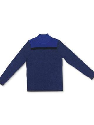 WOMEN Cotton Colorblocked Mock-Neck Sweater, Created for Macy's