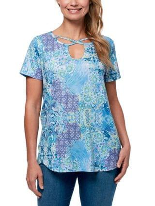 WOMEN Cleo Exotic Patchwork Strappy Tee