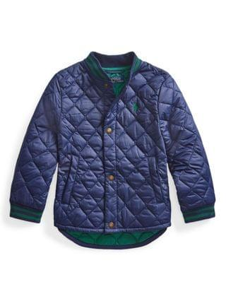 KIDS Little Boys Water-Resistant Quilted Baseball Jacket