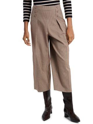 WOMEN Sydney Mini-Check Culottes, Created for Macy's