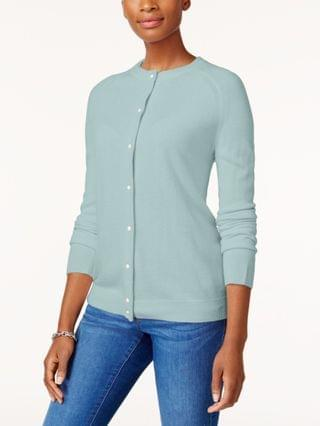 WOMEN Imitation Pearl-Button Cardigan, Created for Macy's