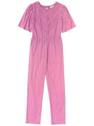 KIDS Big and Little Girls Self Esteem SS Jumpsuite