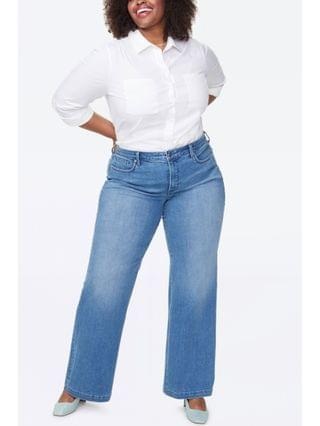 WOMEN Plus Size Wide Leg Trouser Jeans