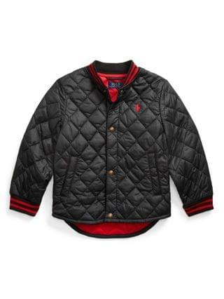 KIDS Little Boys Water Resistant Quilted Baseball Jacket