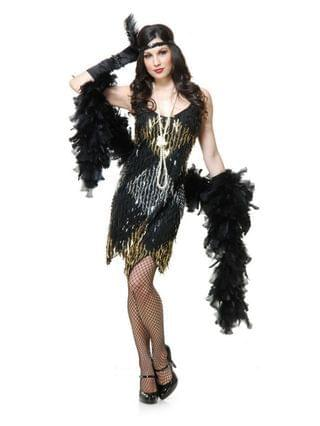 MEN Claw Sequin Dress Adult Costume