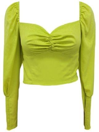WOMEN Puffed Sweetheart-Neck Crop Top, Created for Macy's
