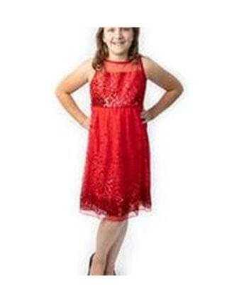 KIDS Big Girls Sequin Illusion Party Dress