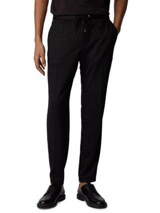 MEN BOSS Men's Banks Pinstripe Slim-Fit Trousers