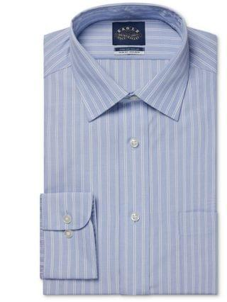 MEN Slim Fit Non-Iron Stretch Collar Dress Shirt