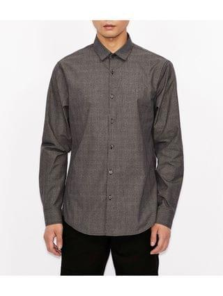 MEN Micro Dotted Design Button Down Shirt