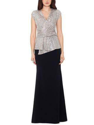 WOMEN Sequin-Top Gown & Face Mask