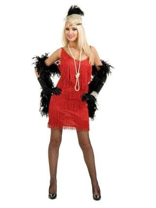 MEN Fashion Flapper Red Adult Costume