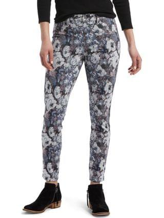 WOMEN Floral-Print Denim-Look Leggings