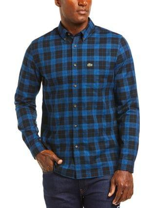 MEN Checked Pattern Cotton Twill Shirt