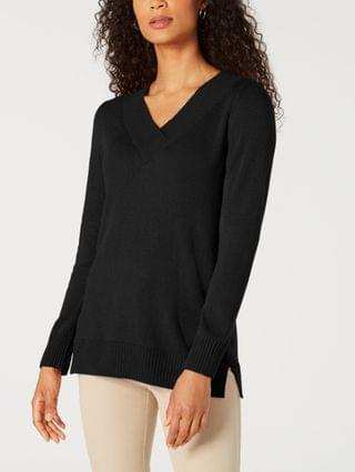 WOMEN Plus Size Crossover V-Neck Sweater, Created for Macy's
