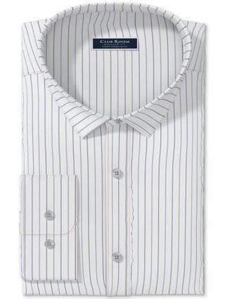 MEN Classic/Regular-Fit Performance Stretch Wrinkle-Resistant Pinstripe Dress Shirt, Created for Macy's