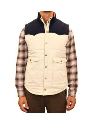 MEN Mixed Media Western Quilted Vest