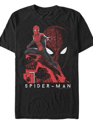 MEN Men's Spider-Man Far From Home Lunge Action Pose, Short Sleeve T-shirt