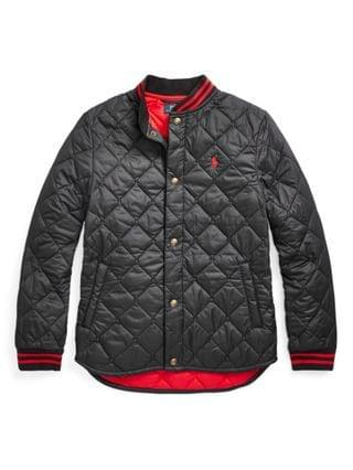 KIDS Big Boys Water Resistant Quilted Baseball Jacket