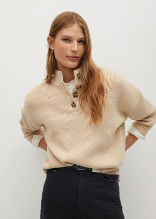 WOMEN Buttons detail knit sweater