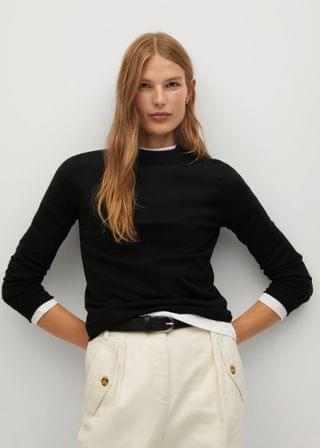 WOMEN Modal-blend knit sweater
