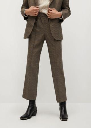 WOMEN Check suit pants