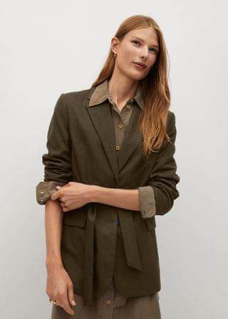 WOMEN Structured bow blazer