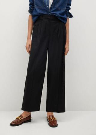 WOMEN Pleat detail pants