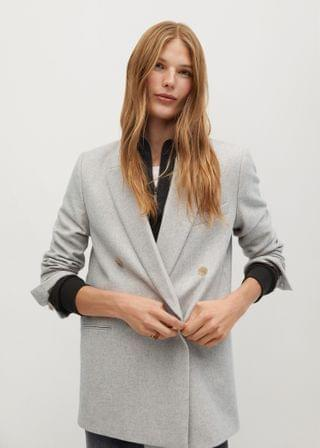 WOMEN Flecked wool-blend blazer