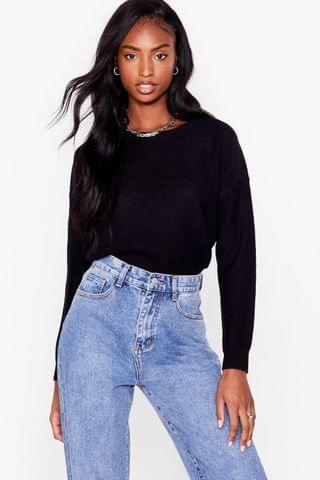 WOMEN Never Crew How Much Knitted Sweater