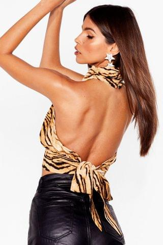 WOMEN That's the Claw Tiger Halter Top