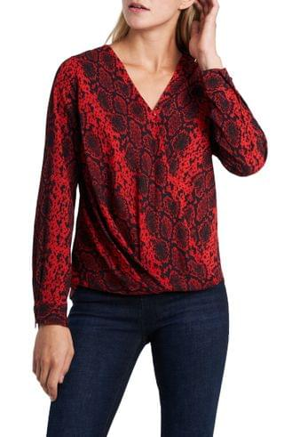 WOMEN Vince Camuto Snake Charm Wrap Front Blouse