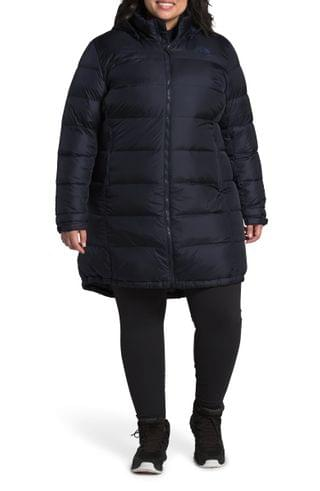 WOMEN The North Face Metropolis III Hooded Water Resistant Down Parka (Plus Size)