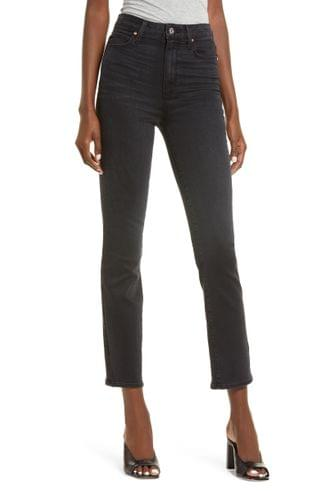 WOMEN PAIGE Cindy Ultra High Waist Ankle Skinny Jeans (Black Willow)