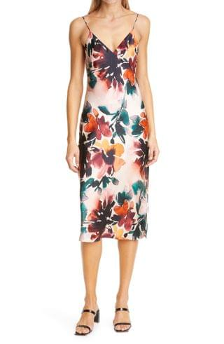 WOMEN CAMI NYC The Raven Autumn Floral Silk Camisole Dress