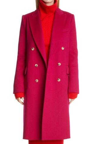 WOMEN St. John Collection Double Breasted Wool Coat