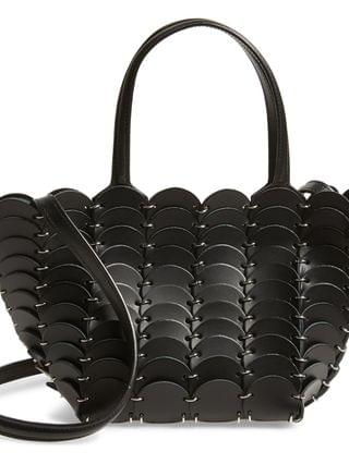 WOMEN paco rabanne Mini Paco o Cabas Leather Tote