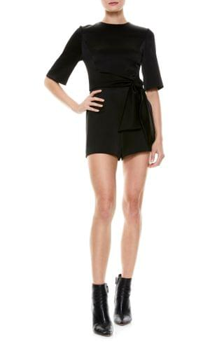 WOMEN Alice + Olivia Virgil Belted Romper