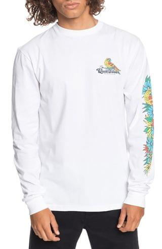 MEN Quiksilver Flying Fortress Long Sleeve Graphic Tee