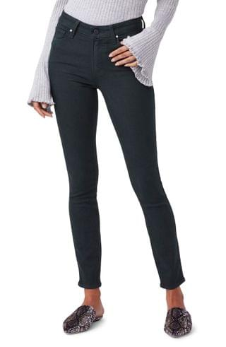 WOMEN PAIGE Transcend Hoxton High Waist Ankle Skinny Jeans (Wild Clover)