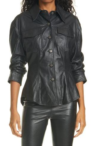 WOMEN Cinq Sept Canyon Scrunched Leather Jacket