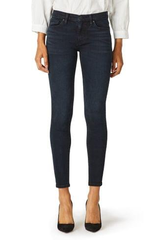 WOMEN Hudson Jeans Nico Mid Rise Ankle Skinny Jeans (Inked Pitch)