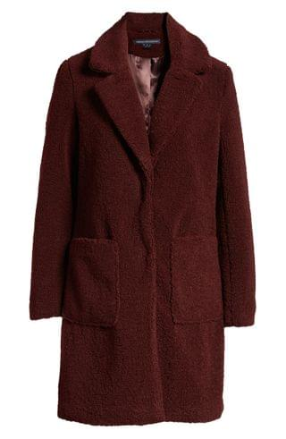 WOMEN French Connection Faux Fur Teddy Coat